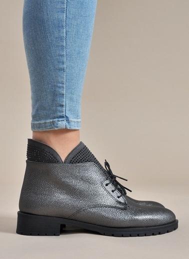 Vizon Ayakkabı Bot Gümüş